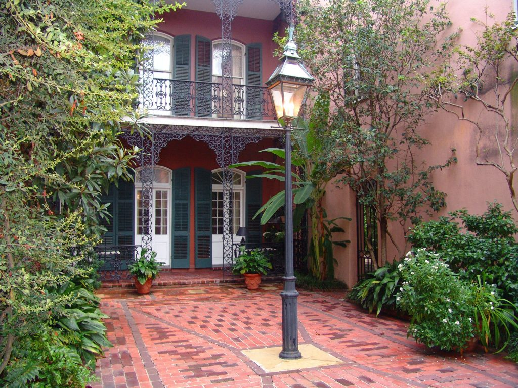 A courtyard patio in New Orleans